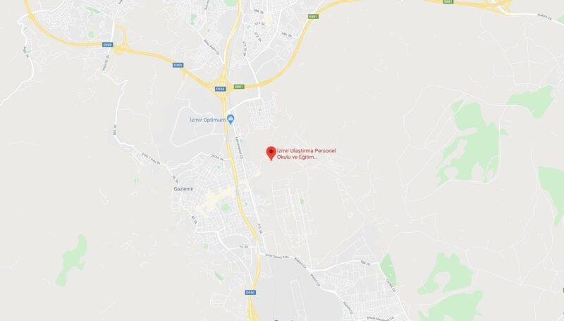 gaziemir ulaştırma okulu haritası