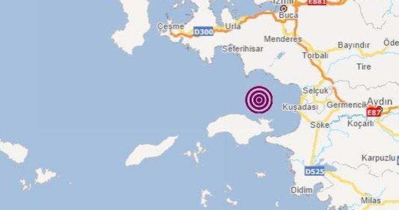kusadasinda deprem